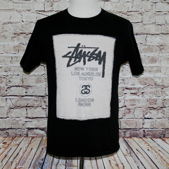 ff5c57c5258 STUSSY Graphic T-Shirt World Tour New York Paris. M 5a4524dffcdc31bc800d344a